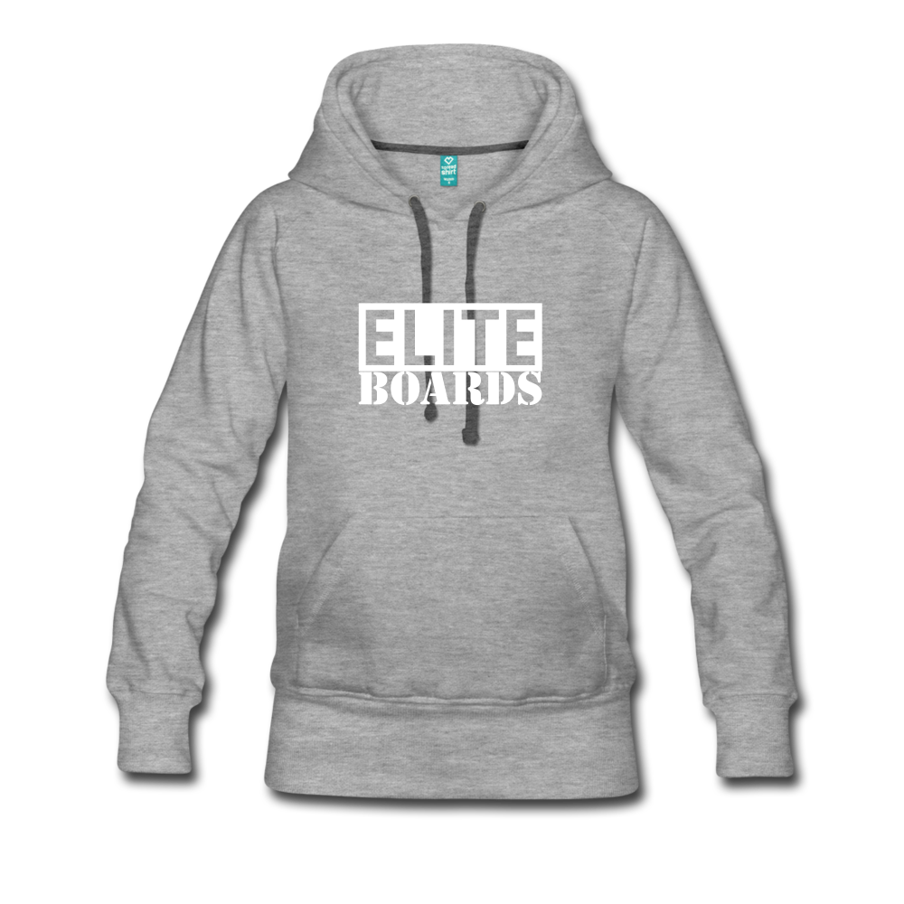 Elite Boards Women's Premium Hoodie - heather gray