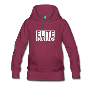 Elite Boards Women's Premium Hoodie - burgundy