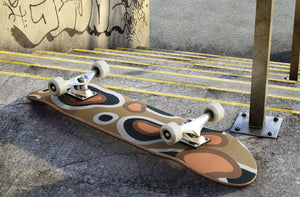 Brown Leopard Print Skateboard