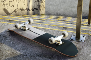 Black and Wooden Skateboard