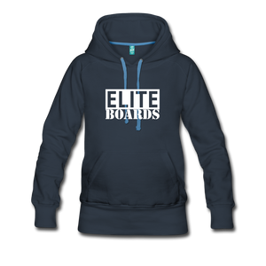 Elite Boards Women's Premium Hoodie - navy