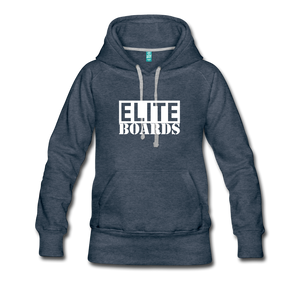 Elite Boards Women's Premium Hoodie - heather denim