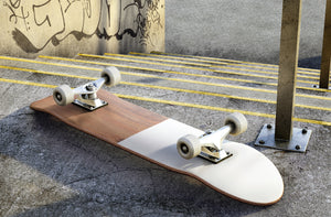 White and Wooden Skateboard