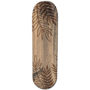 Brown Wooden Leaf Skateboard