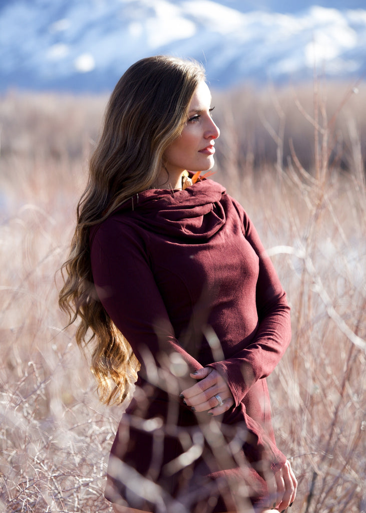 Cozy Cowl Tunic - Plum