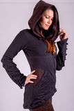 Women's Aegis Hoodie - Black/Brown