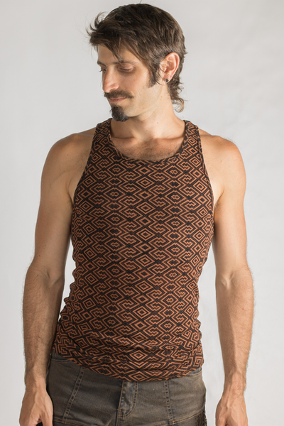 Amazonia Singlet - Bamboo/Org.Cotton - Black/Copper