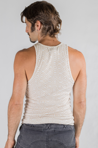 Amazonia Singlet - Bamboo/Org.Cotton - Cream/Tan