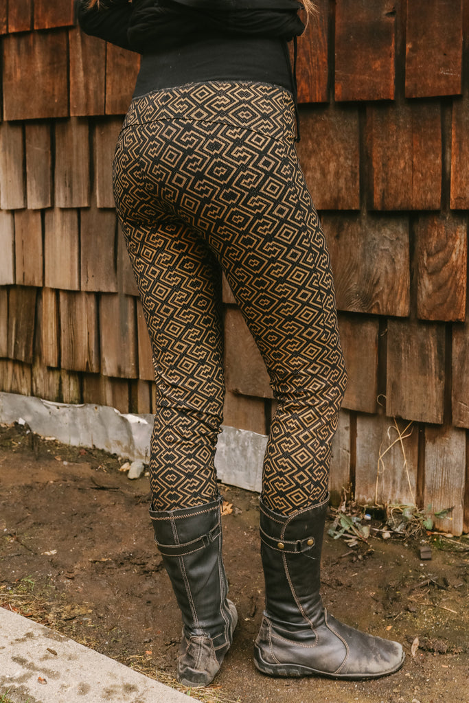 Amazonia Leggings - Black/Gold