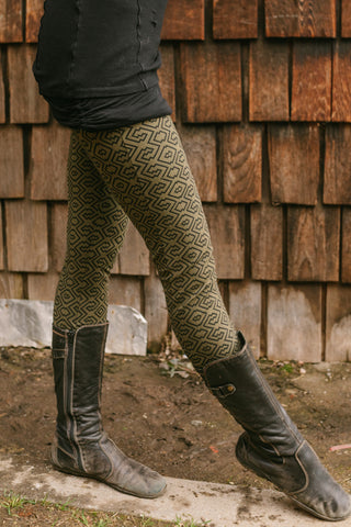 Amazonia Leggings - Sage/Black