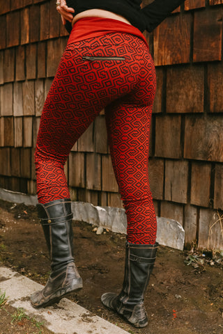 Amazonia Leggings - Burgundy