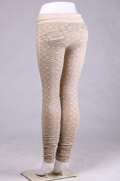 Amazonia Leggings - Cream/Gold