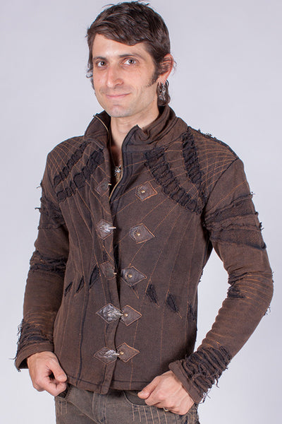 Arkana Jacket - Black/Brown Stonewash