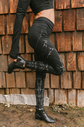 Arrow Leggings - Black/Gray