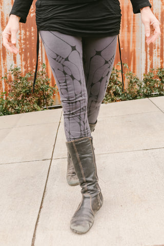 Arrow Leggings - Gray/Black