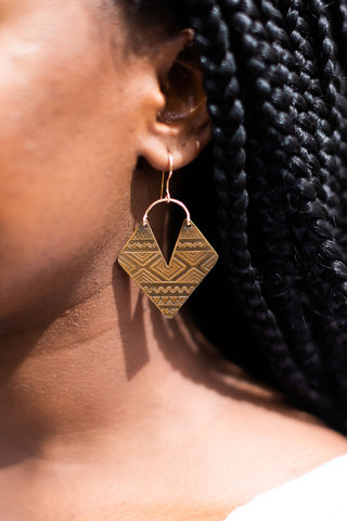 Aztec Earrings - Small