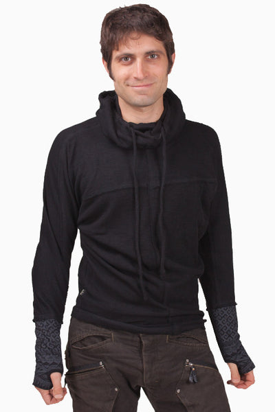 Psylo Baggy Sweater - Black