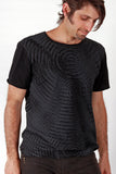 Mens T'shirts Org. Cotton - Water - Black