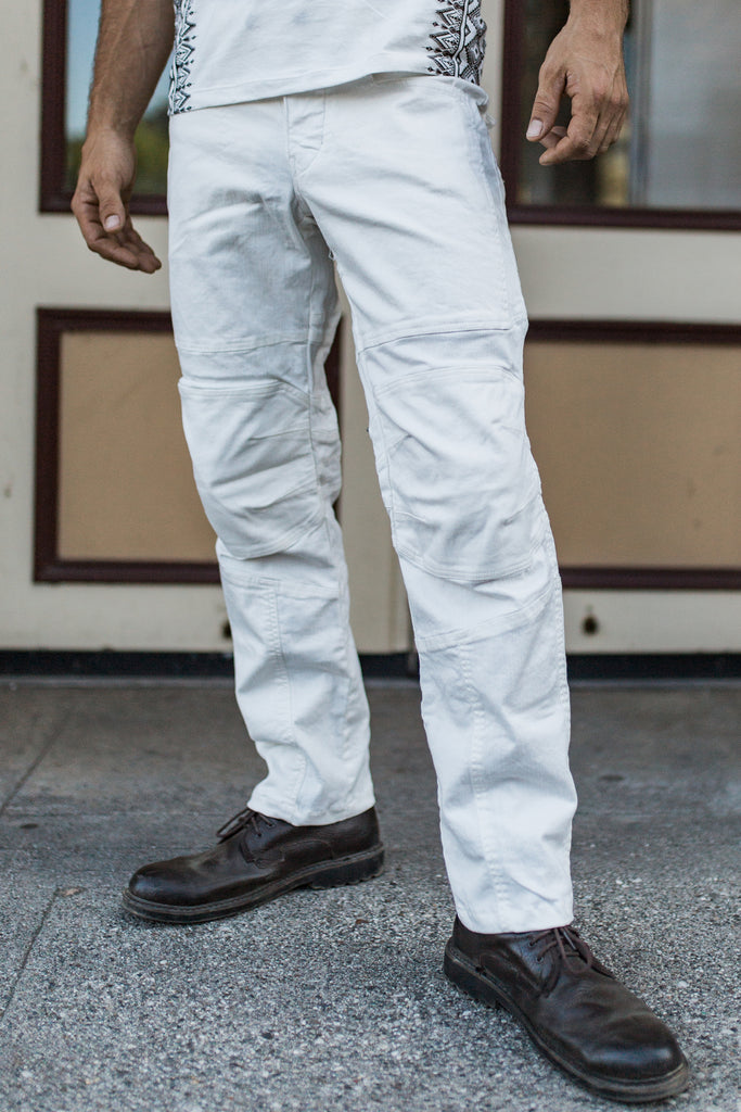 Moto Jeans - Boot Cut - White