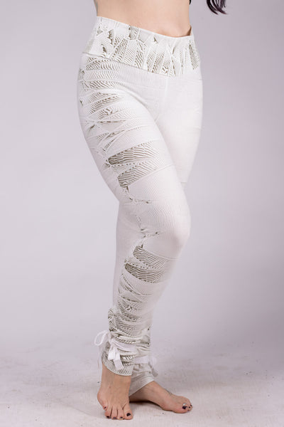 Psy Crystal High Leggings - White