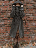 Ninja Long Coat Stonewash