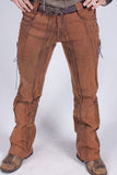 New Gaucho Pants - Org. Stretch Canvas - Rusty Brown