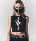 Demi Lunar print Sports Belt w mask-KAYO Anime Clothing
