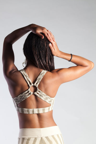 Dance Bra - Cream/Gold Carni Stripe