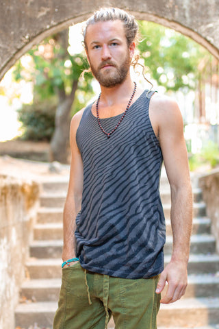 Loose Tank - Organic Cotton - Black Wind