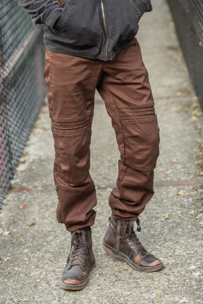 Moto Jeans - Boot Cut - Brown
