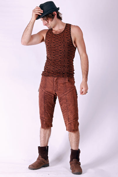 Org. Canvas Kimoto Shorts - Rust