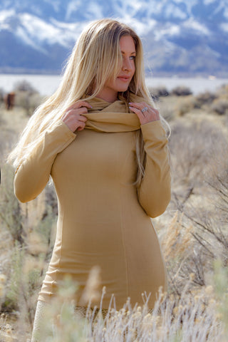 Cozy Cowl Tunic - Golden Sand
