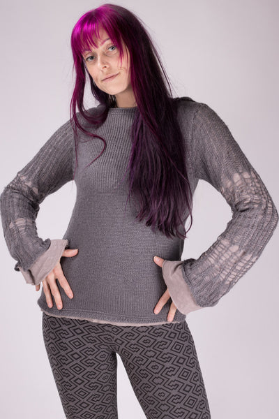 Love Hooded Sweater - Gray