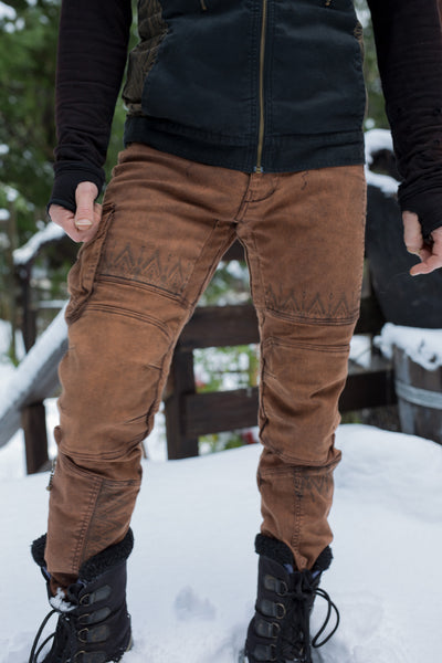 Moto Maxx Pants - Rust Tribal Print