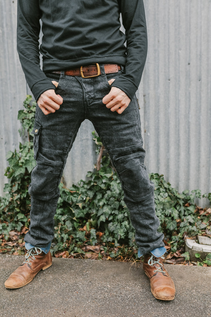 Moto Maxx Denim - Black Washed