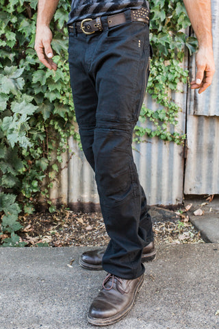 Moto Jeans - Boot Cut - Black