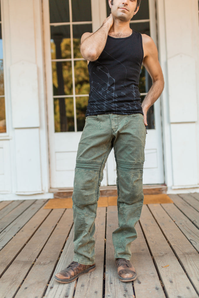 Moto Jeans - Boot Cut - Sage Green