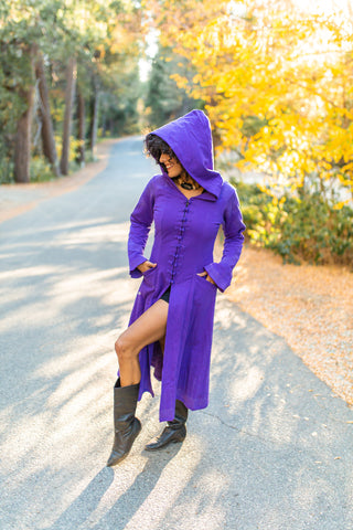 Kaftan Coat - Starduster - Purple