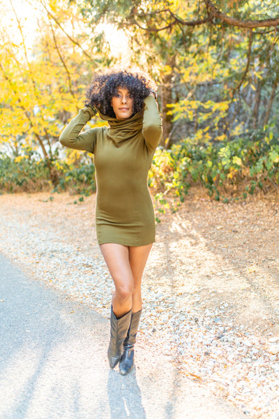 Cozy Cowl Tunic - Olive