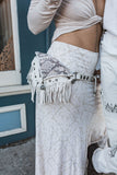 Asli Tassel Bag - White