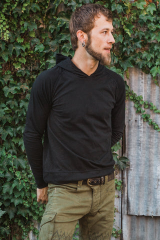 Org. Caravan Thin Hoodies - Black
