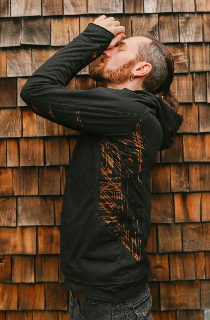 Org. Arrow Thin Hoodies - Black
