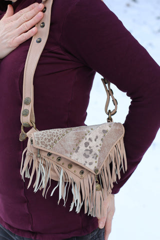 Asli Tassel Bag - Rose