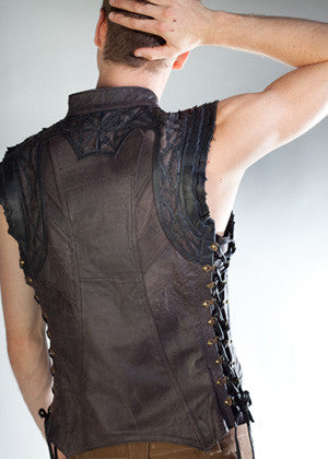 Leather Arkana Vest - Brown