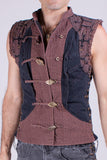 Shipibo Vest - Black/Brown