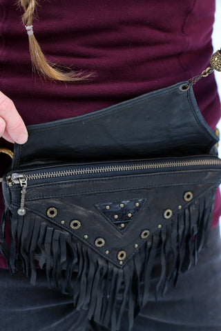 Asli Tassel Bag - Black