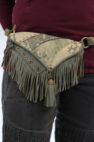 Asli Tassel Bag - Sage Green