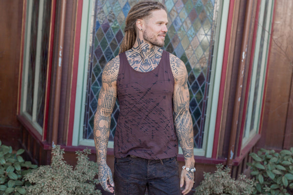 Loose Tank - Organic Cotton - Brown Arrows