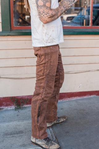 Moto Jeans - Boot Cut - Rust