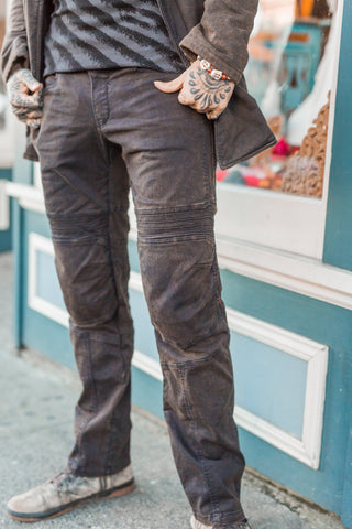 Moto Jeans - Boot Cut - Mud